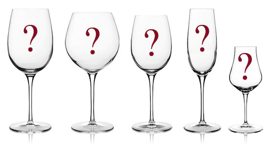 choosing a wine glass