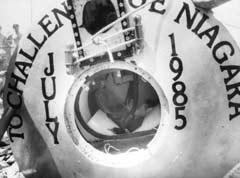 The inside of Dave Munday's barrel