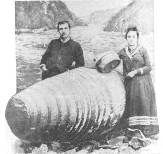 George Hazlett and Sadie Allen mad a trip together through the Whirlpool Rapids on August 8th, 1886. Eyebrows were raised as they were not even engaged at the time.