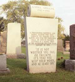 Karel Soucek gravestone