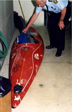 Jessie Sharp's kayak was found below the falls but his body has never been found