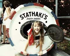 The barrel where George Stathaki met his untimely death is on display in Niagara Falls