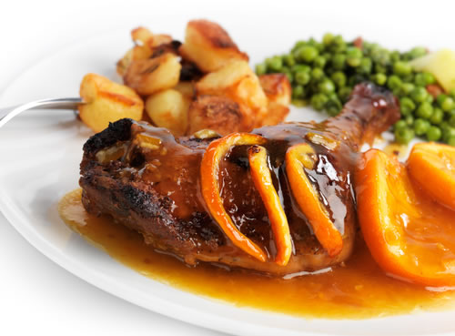 Duck With Turnips And Peas Stewed Recipe
