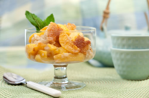 baked peaches desert recipe